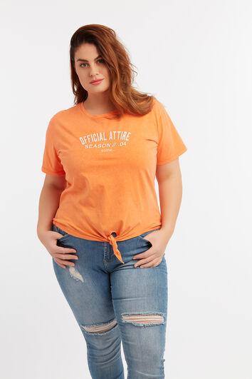 T-shirt court avec noeud