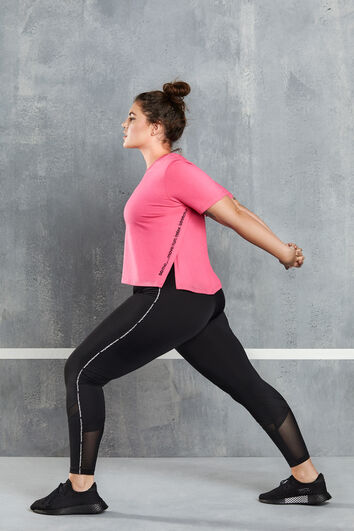 Sport-Leggings mit Mesh-Detail